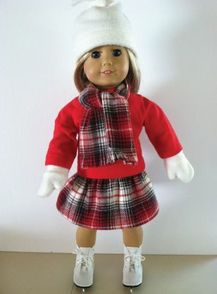Red Skating Outfit