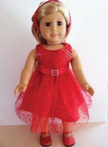 Sparkly red Christmas dress