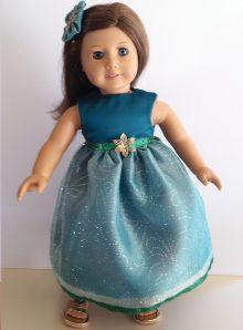 Satin Green Holiday Dress