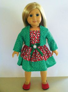 Green holiday dress matching jacket