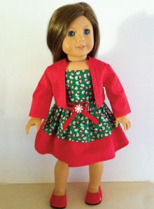 Red Christmas Dress with Jacket