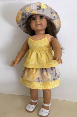 Yellow cami and skirt